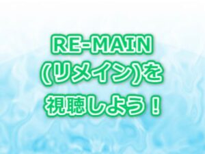 RE-MAIN(リメイン)アニメ感想